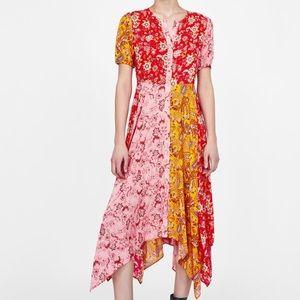 Zara Parchwork Dress